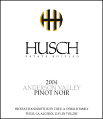 Husch Vineyards Pinot Noir