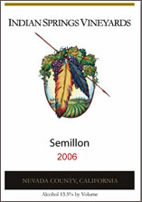 Indian Springs Vineyards-Semillon