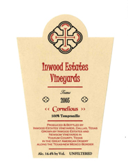 Inwood Estates Vineyards - Cornelious