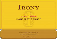Irony Wines-Pinot Noir