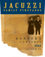 Jacuzzi Family Vineyards-Barbera
