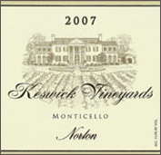 Keswick Vineyards and Winery - Norton