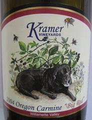 Kramer Vineyards Oregon Carmine