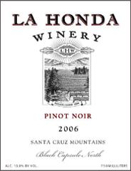 La Honda Winery-Pinot Noir