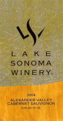 Lake Sonoma Winery-Cabernet Sauvignon