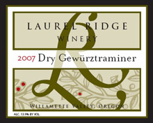 Laurel Ridge Winery-Dry Gewurztraminer