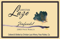 Christian Lazo Winery-Zinfandel