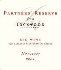 Lockwood Vineyard Partners&#39 Reserve red wine