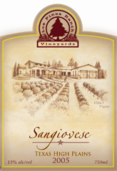 Los Pinos Ranch Vineyards-Sangiovese