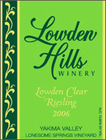 Lowden Hills Winery-Riesling