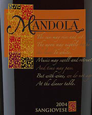 Mandola Estate Winery-Sangiovese