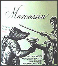 Marcassin Pinot Noir Wine Label
