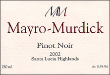 Mayro-Murdick Winery Pinot Noir