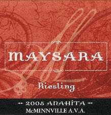 Maysara Estate-Riesling