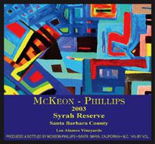 McKeon-Phillips Wines-Syrah Reserve