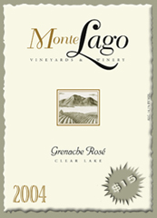 Monte Lago Vineyards and Winery-Grenache Rose