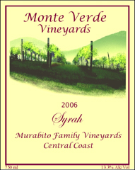 Monte Verde Vineyards-Syrah