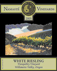 Namasté Vineyards-Riesling