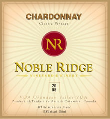 Noble Ridge Vineyard and Winery-Chardonnay