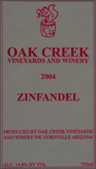 Oak Creek Vineyards and Winery-Zinfandel