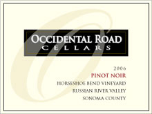 Occidental Road Cellars-Pinot Noir
