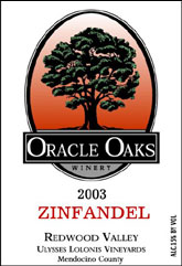 Oracle Oaks Winery - Redwood Valley Zinfandel
