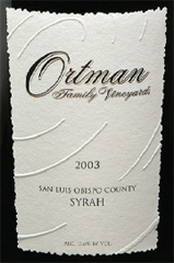 Ortman Family Vineyards - Paso Robles Syrah