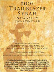 PB Hein Vineyards-Trailblazer Syrah