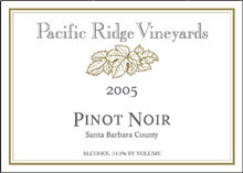 Pacific Ridge Vineyards - Pinot Noir
