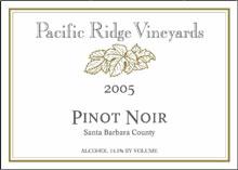 Pacific Ridge Vineyards - Pinot Noir
