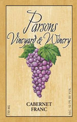 Parsons Vineyard  and  Winery-Cabernet Franc