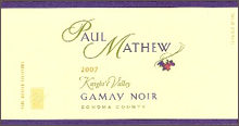 Paul Mathew Vineyards-Gamay Noir