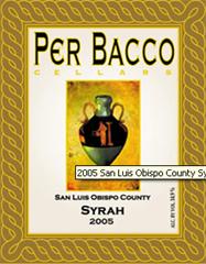 Per Bacco Cellars-Syrah