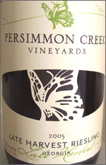 Persimmon Creek Vineyards Late Harvest Riesling