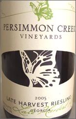 Persimmon Creek Vineyards Late Harvest Riesling