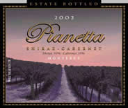 Pianetta Estate Vineyard and Winery-Shiraz Cabernet