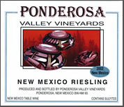 Ponderosa Valley Vineyards-Riesling