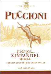 Puccioni Vineyards old vine Zinfandel