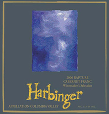 Harbinger Winery-Rapture Cab Franc