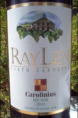 RayLen Vineyards Carolinius