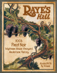 Raye&#39s Hill Vineyards Pinot Noir
