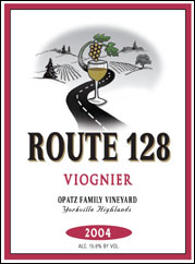 Route 128 Winery - Yorkville Highlands Viognier
