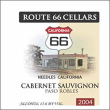 Route 66 Cellars - Cabernet
