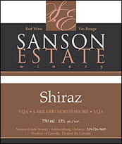 Sanson Estate Winery - Shiraz