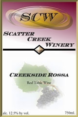 Scatter Creek Winery-Creekside Rossa