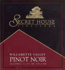 Secret House Vineyards and Winery-Pinot Noir