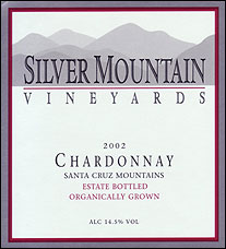 Silver Mountain Vineyards, Santa Cruz Mountains Estate Chardonnay