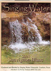 Singing Water Vineyards-SauvignonBlanc