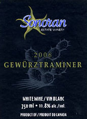 Sonoran Estate Winery-Gewurztraminer