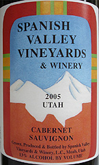 Spanish Valley Vineyards Cabernet Sauvignon